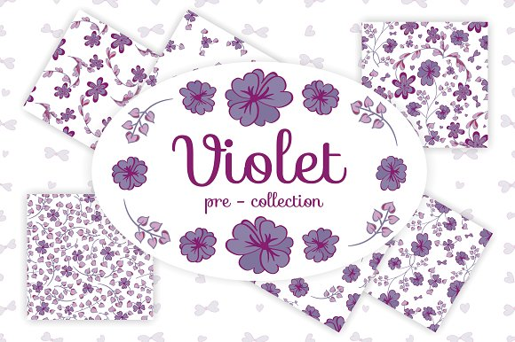 Violet pre-collection in Patterns