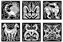 Abstract animals and birds in celtic