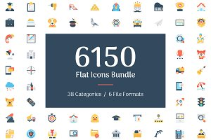 6150 Flat Icons Bundle