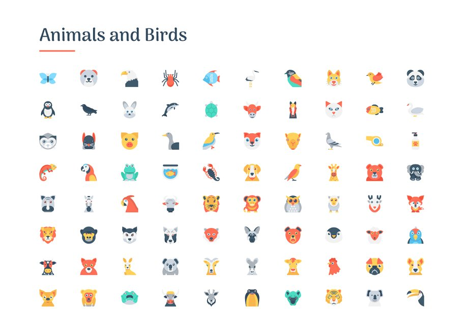 6150 Flat Icons Bundle in Flat Icons - product preview 1