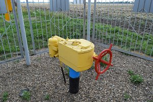 The latch on the underground gas pipeline