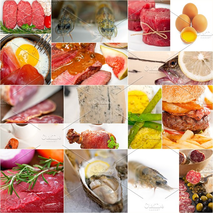 high protein content food collage 2.jpg - Food & Drink