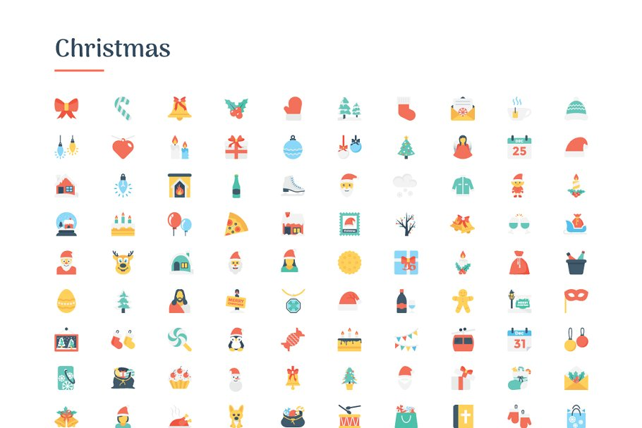 6150 Flat Icons Bundle in Flat Icons - product preview 2