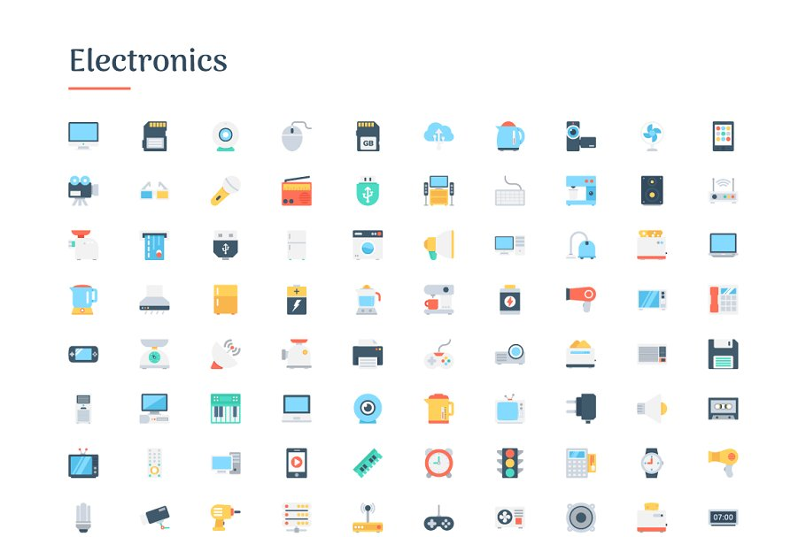 6150 Flat Icons Bundle in Flat Icons - product preview 3