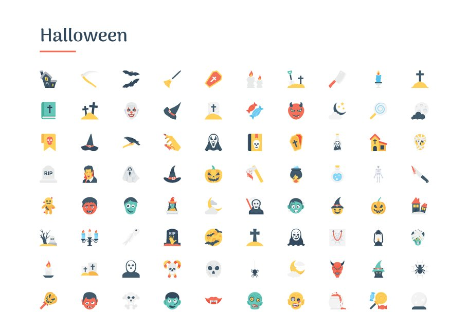 6150 Flat Icons Bundle in Flat Icons - product preview 4