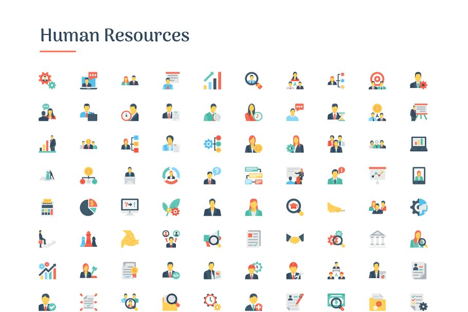 6150 Flat Icons Bundle in Flat Icons - product preview 5