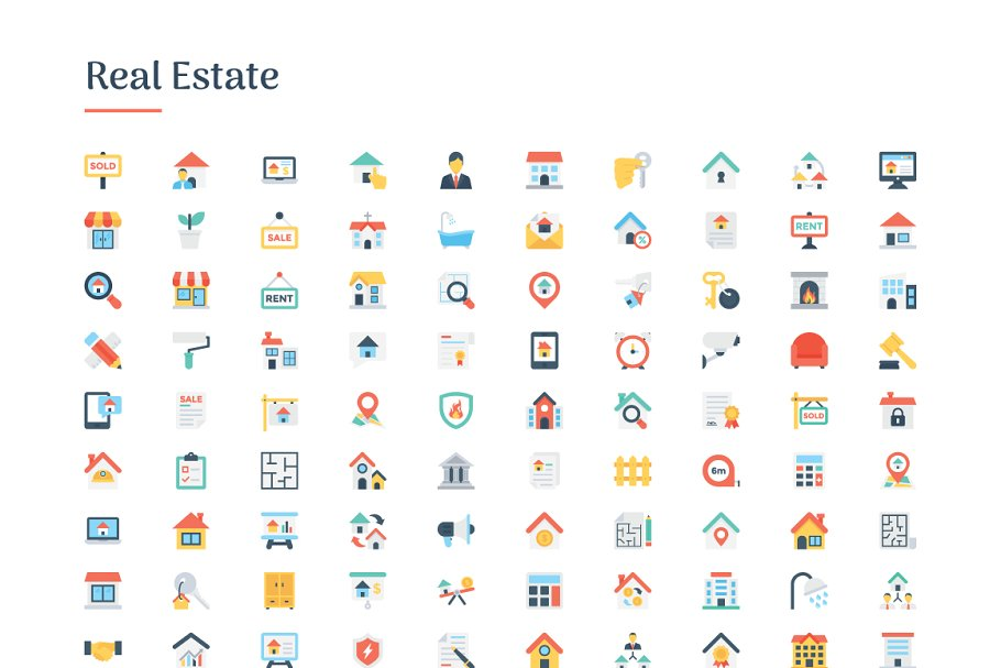 6150 Flat Icons Bundle in Flat Icons - product preview 8