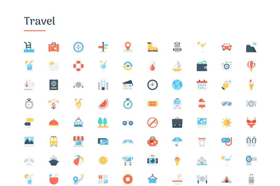 6150 Flat Icons Bundle in Flat Icons - product preview 9