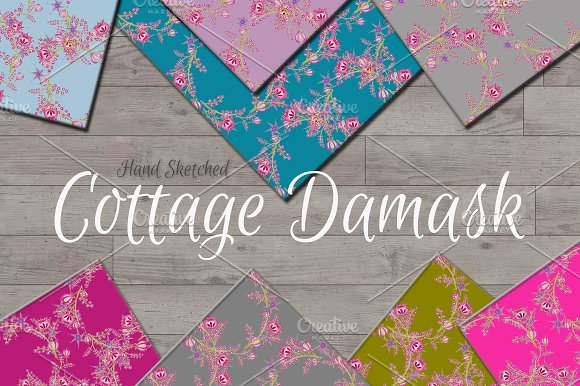 Cottage Damask Background Papers