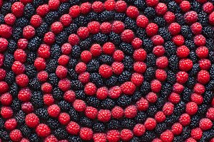 Spiral of berry.