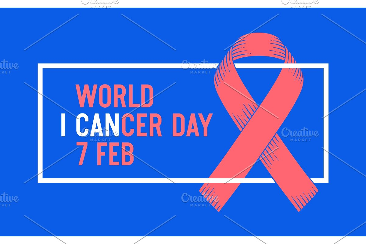 Poster World Cancer Day in Illustrations