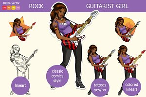 Rock Guitarist Indonesian girl