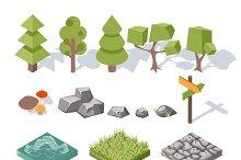 Flat elements of nature
