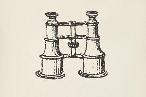 Binocular icon (PSD)