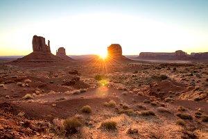 Southwest Landscape with Sunrise