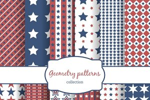 Stars and stripes patterns