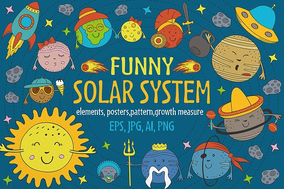 funny solar system in Graphics