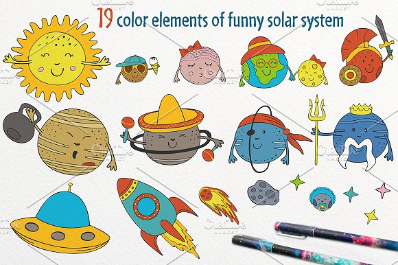 funny solar system in Graphics - product preview 1