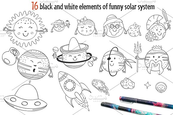 funny solar system in Graphics - product preview 2