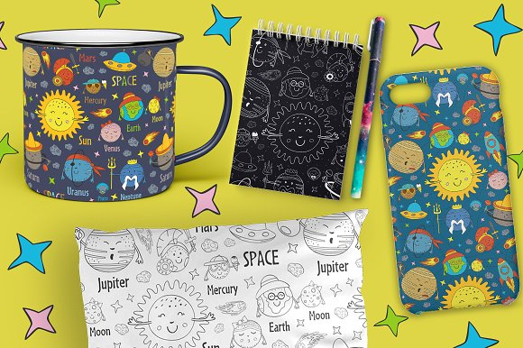 funny solar system in Graphics - product preview 9