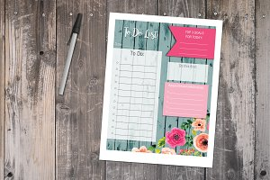 To Do List - Floral Printable