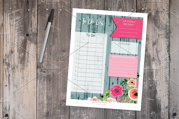 To Do List Floral Printable