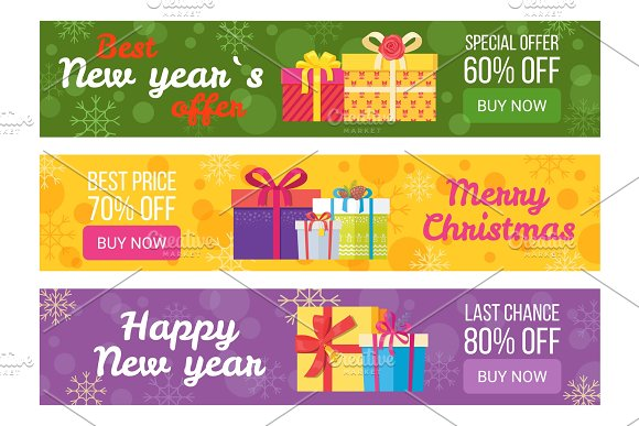 Colorful Set of Sale Banners Best Price Buy Now