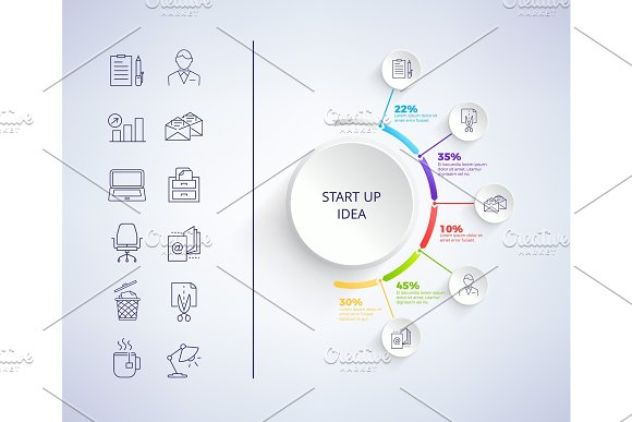 Set Up Idea Infographic on Vector Illustration