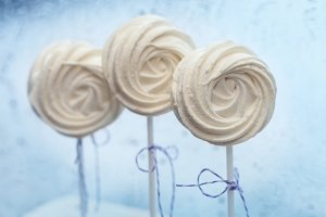 white tender marshmallow on a stick