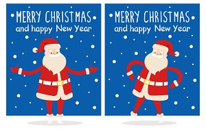 Merry Christmas Santa Claus Vector Illustration