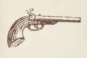 Victorian gun icon (PSD)