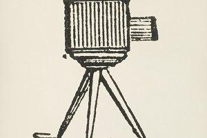 Vintage camera icon (PSD)