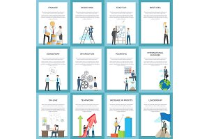 Business Posters Depicting Hard-Working Employees