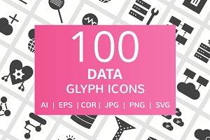 100 Data Glyph Icons