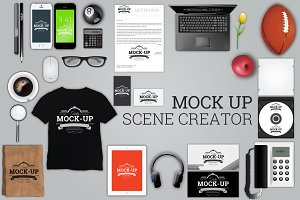 Stationary Mock-Up Scene Creator