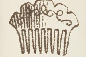 Decorative comb icon (PSD)