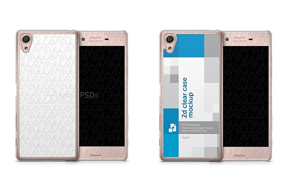 Sony Xperia X 2d Clear Mobile Case