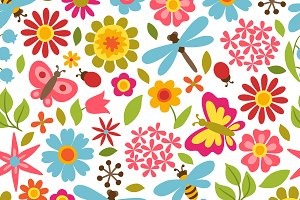 Patterns with beautiful flowers.