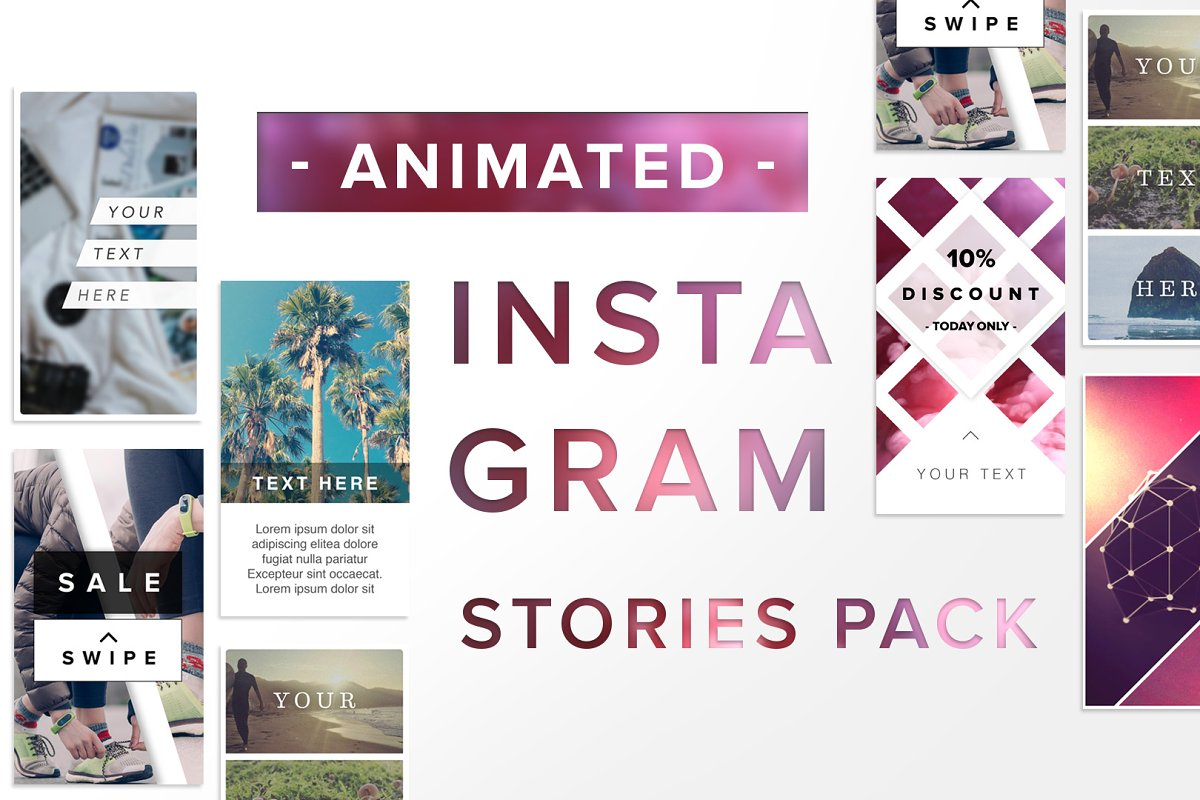 ANIMATED Instagram Stories Bundle ~ Instagram Templates
