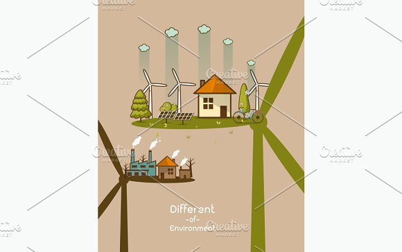 different of Environmentally in Illustrations