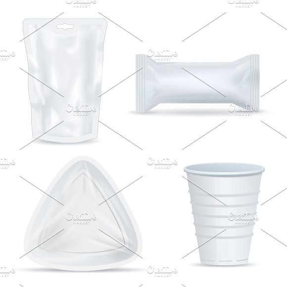 Food Packaging Isolated Set
