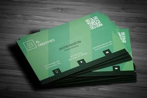 Green Creative Business Card