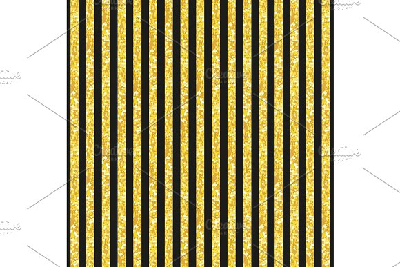 Cute seamless pattern of golden glitter stripes in Textures