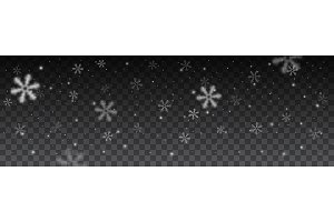 snowflakes in different shapes background.