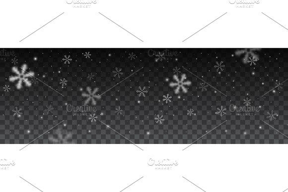 snowflakes in different shapes background. in Objects