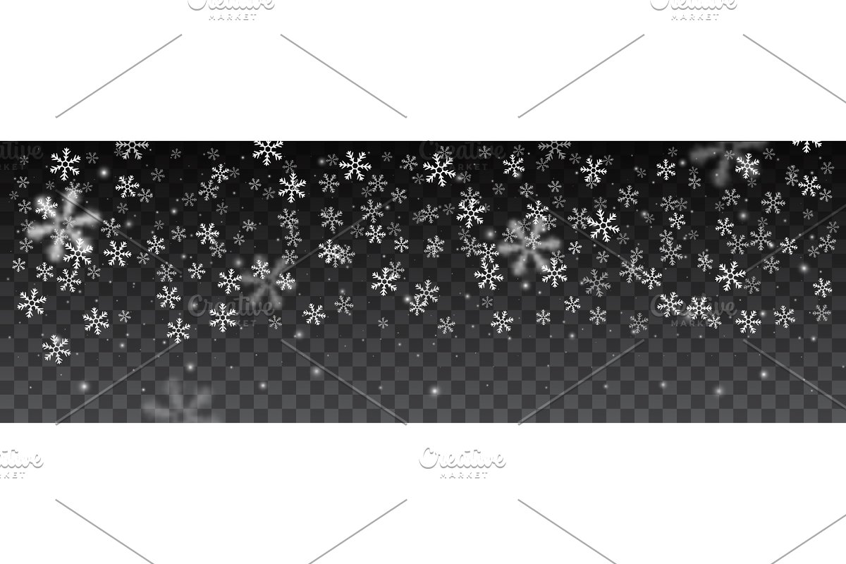 snowflakes in different shapes.