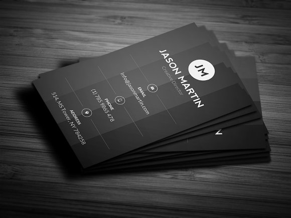 Creative Gray Business Card