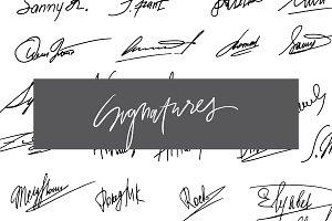 Signatures set