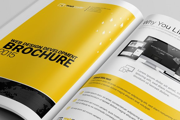 Brochure Template For Web Agency