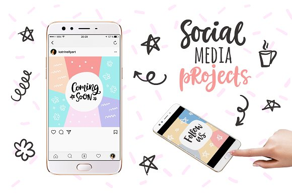 Social Media Lettering Overlays Pack in Objects - product preview 13